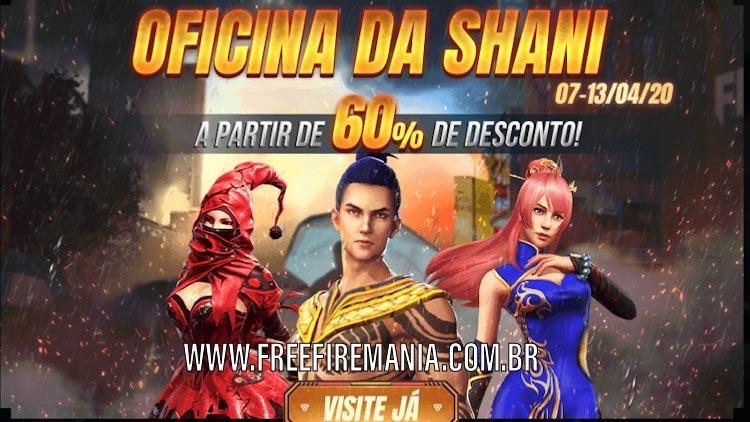 Chegou! Oficina da Shani no Free Fire Brasil