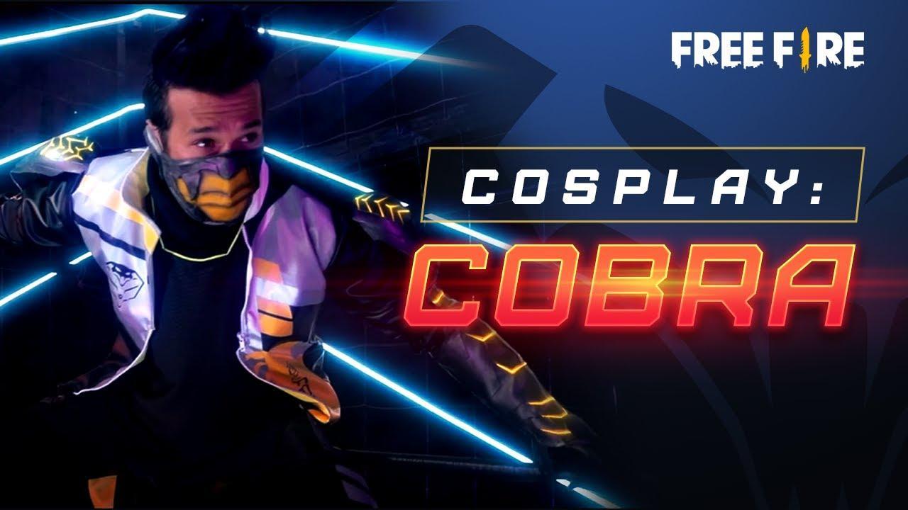 Cobra Free Fire: cosplay baru untuk wallpaper dengan paket Battle Royale yang legendaris