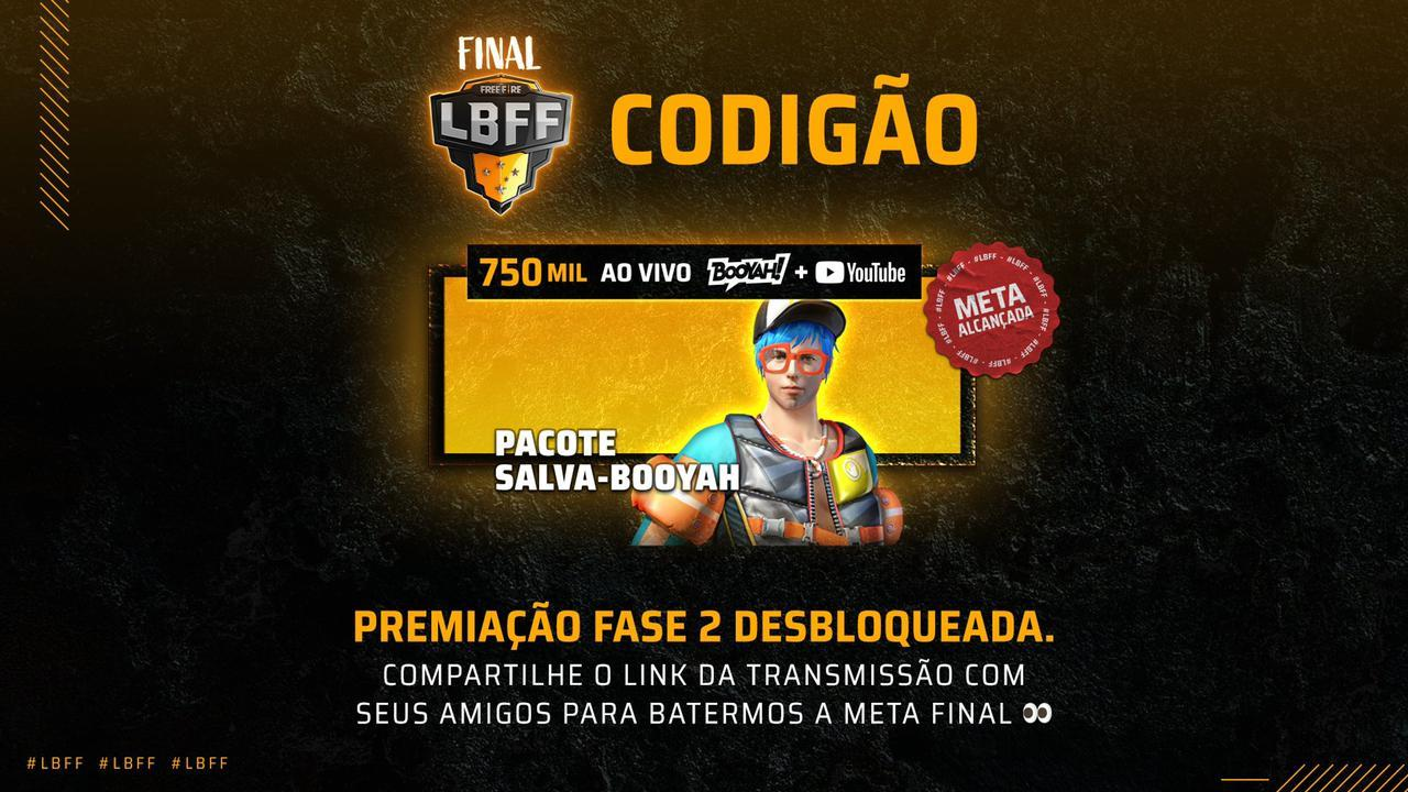 Codigão Free Fire (FF): pacote Salva-Booyah liberado, veja como resgatar no jogo
