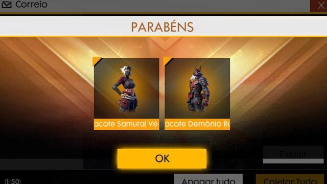 Códigos de Recompensas das Novas Skins do Passe de Elite Samurais Demoníacos