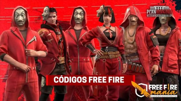Códigos Free Fire: novos pacotes de La Casa de Papel
