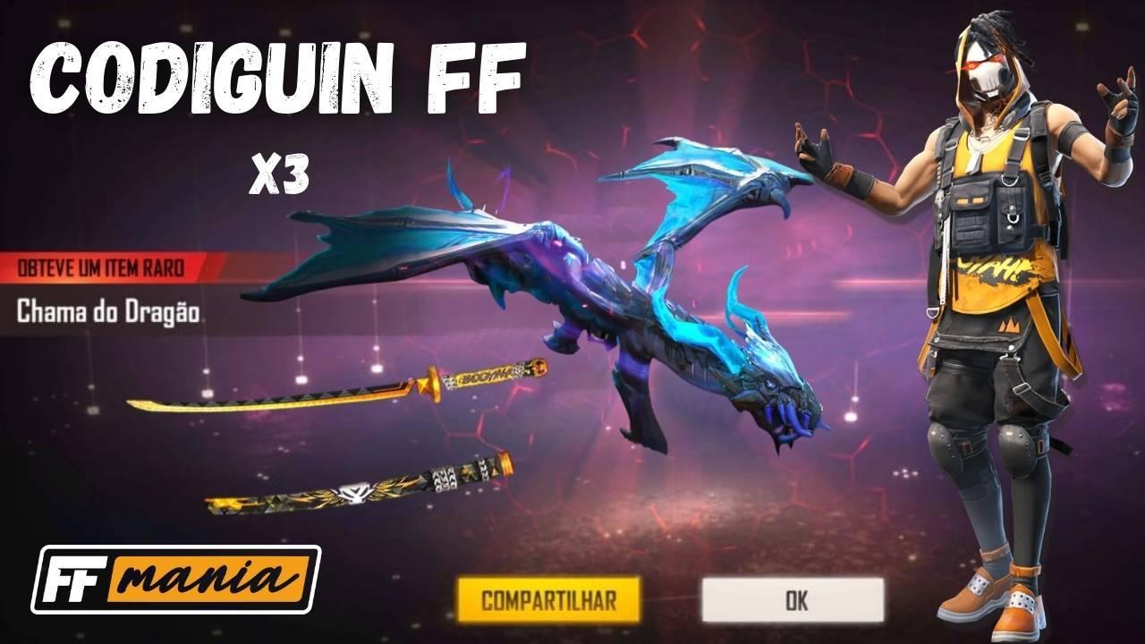 CODIGUIN FF 2020: Códigos Free Fire da AK Chama do Dragão e mais!