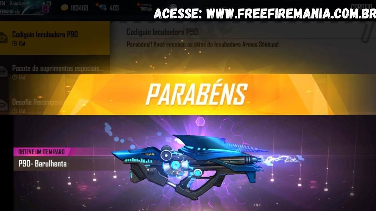 CODIGUIN FF 2021: veja como conseguir o código com a nova Incubadora Armas Sônicas do Free Fire