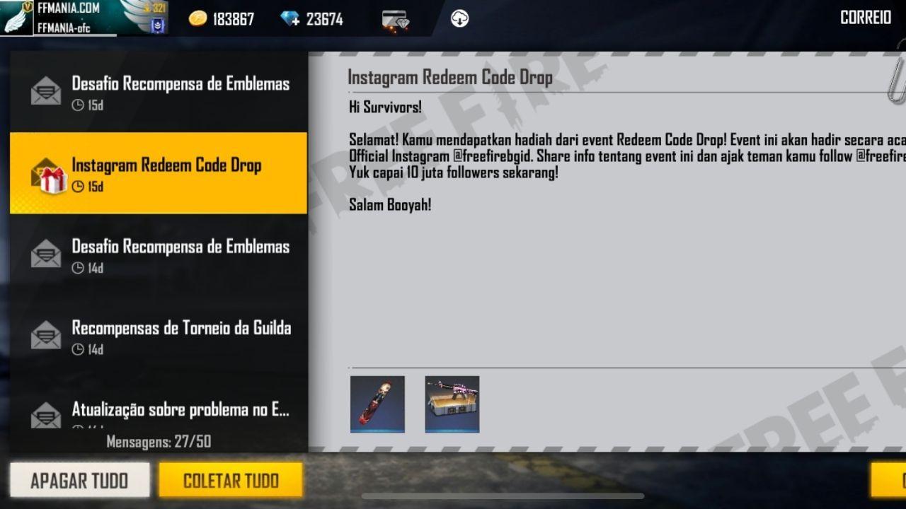 CODIGUIN FF: código do Free Fire é liberado para todos os jogadores, como resgatar no site rewards