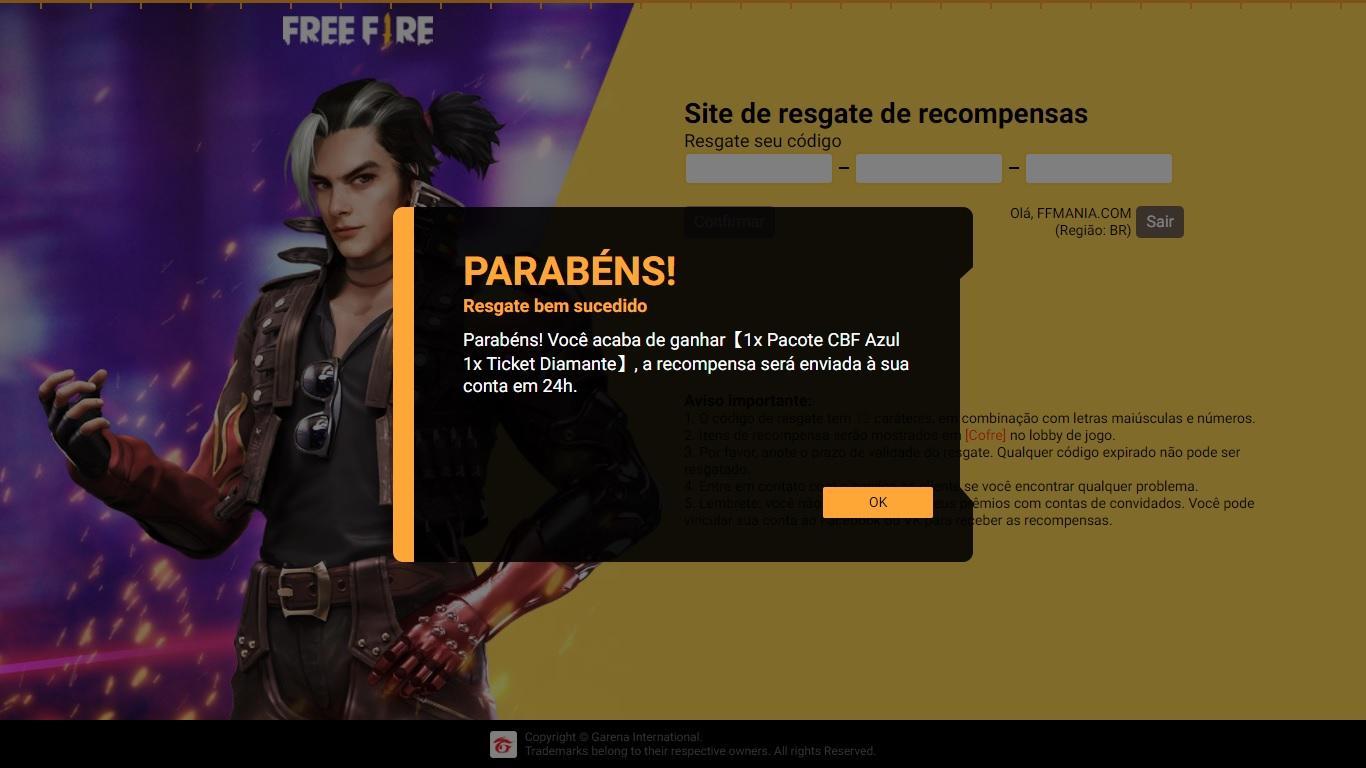 CODIGUIN FF: código do jogo Brasil x Venezuela liberado para todos, como resgatar no site rewards
