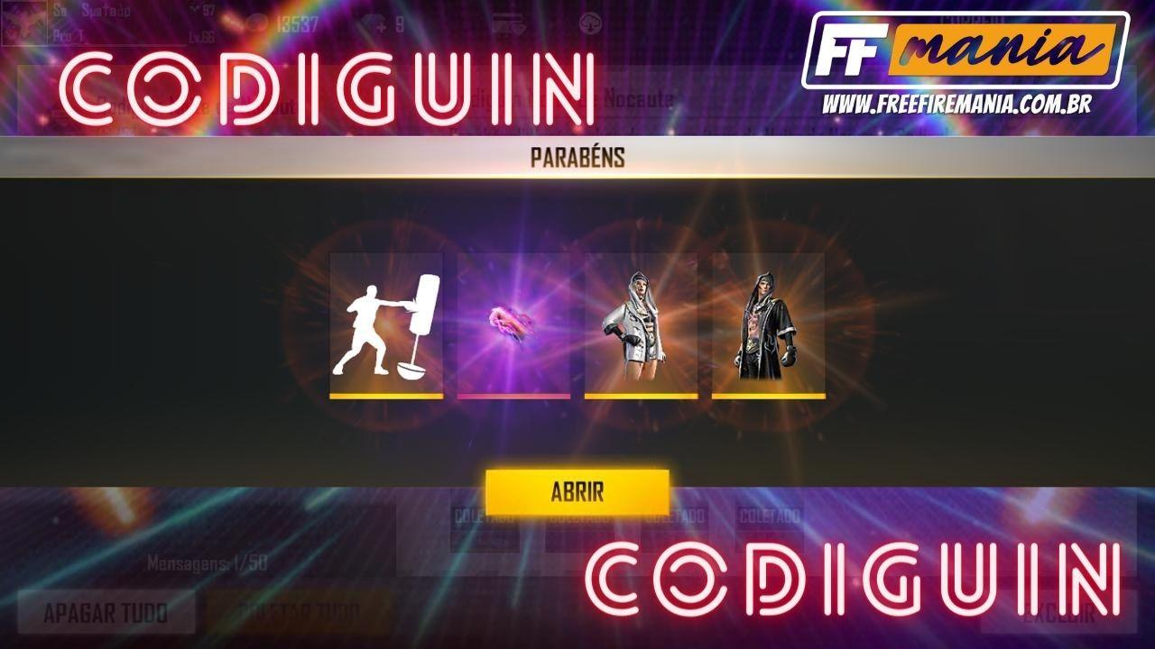 CODIGUIN FF: Novos códigos Free Fire com itens do evento Noite de Nocaute chegam ao jogo