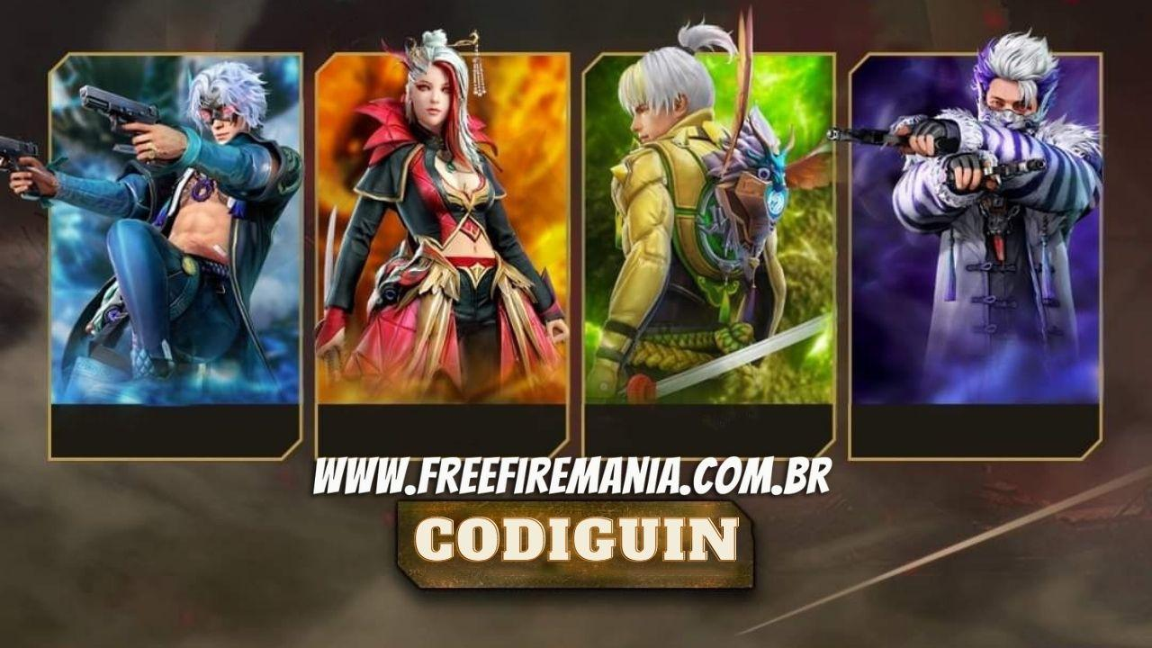 CODIGUIN FF: novos códigos Free Fire Redenção 3.0 com os pacotes Draco, Rajah, Aurora e Cascuco