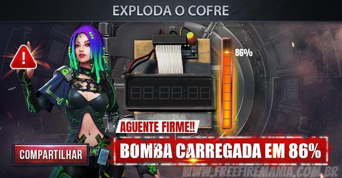 Cofre do Free Fire: Bomba carregada em 86%