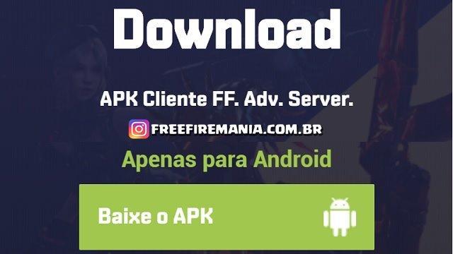 Como Baixar e fazer o Download do APK no Novo Servidor Avançado da Garena?