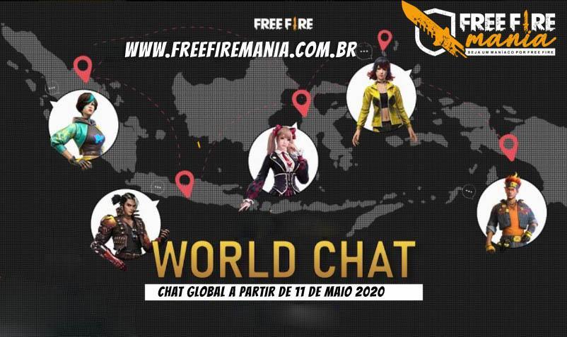 Como funciona o novo Chat Global do Free Fire