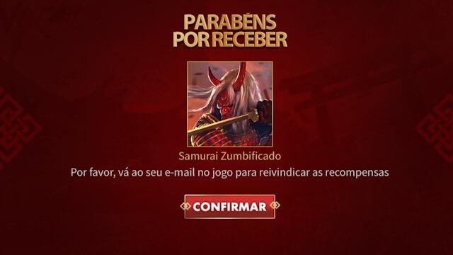 Como ganhar a Skin do Samurai Zumbificado - É Grátis?