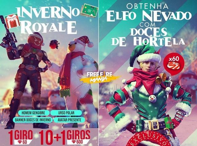 Como ganhar todas as Skins de Natal - Homem Gengibre, Urso Polar, Elfo Nevado - é Grátis?