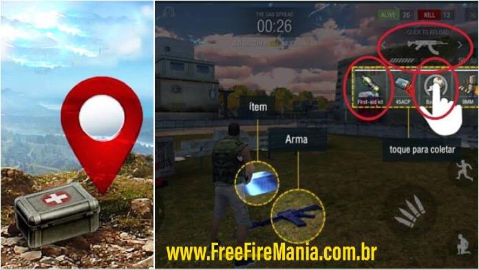 Como Marcar Itens para Seus Amigos no Mapa do Free Fire