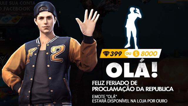 Compre Emote por OURO! Promoção de Feriado!