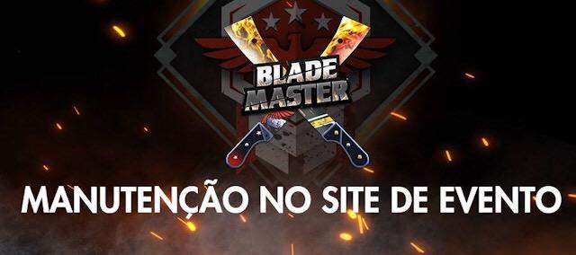 Comunicado sobre o erro no site Blade Master