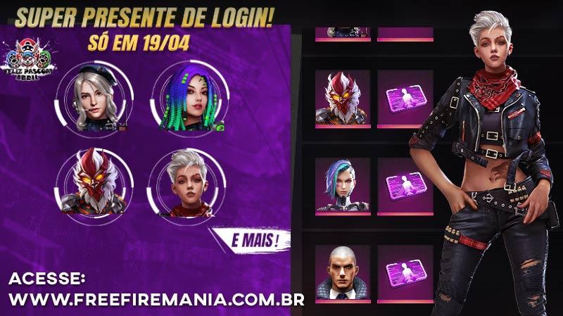 Confirmado! Escolha um personagem Grátis no Free Fire Brasil