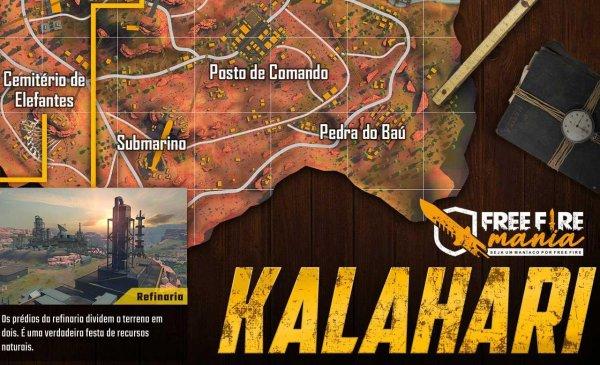 Conheça as cidades do novo Mapa Kalahari do Free Fire