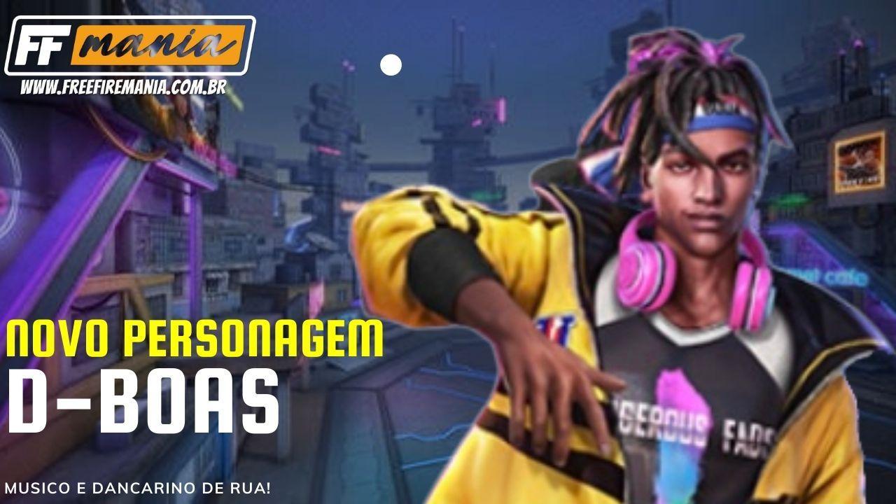 D-Bboas Free Fire: novo personagem negro é um músico e dançarino de rua, confira habilidade