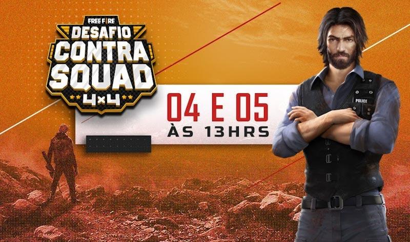 Desafio Contra Squad reúne influenciadores para celebrar novo modo ranqueado do Free Fire