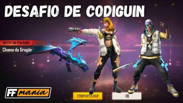 Desafio de CODIGUIN 2020: como ganhar códigos da AK47, Passe de Elite e Incubadora