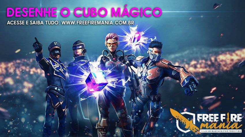 Chegou! Desenhe o Cubo Mágico e ganhe no novo evento do Free Fire