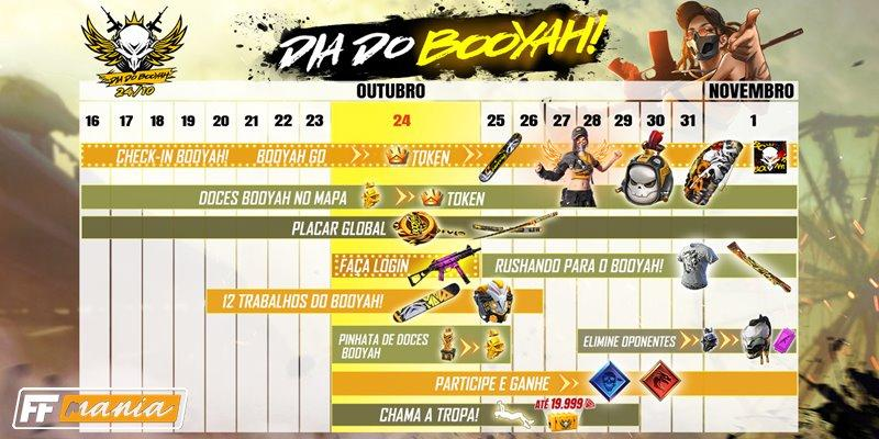 Dia do BOOYAH: confira o funcionamento e calendário do super evento do Free Fire