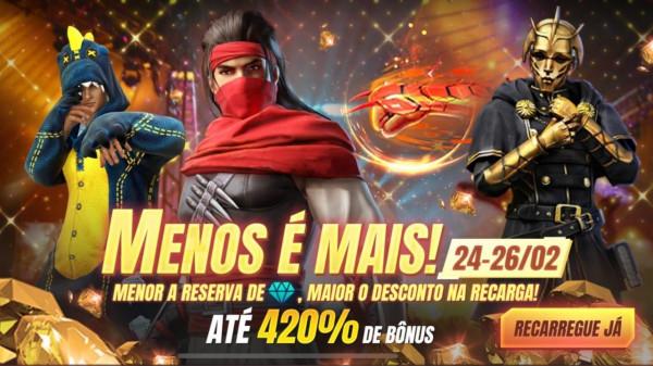 Diamantes Free Fire: Menos é mais está disponível no Battle Royale, veja como funciona