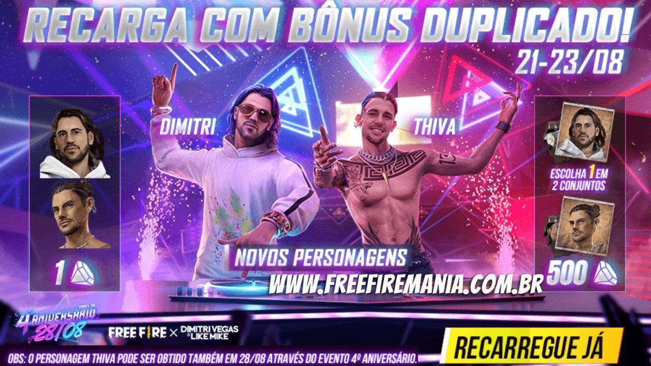 Dimitri e Thiva, os personagens que vão revolucionar o Free Fire, chegam amanhã, veja como conseguir
