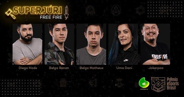 Divulgados os Jurados para Escolha do Melhor Jogador de Free Fire do Brasil 2019