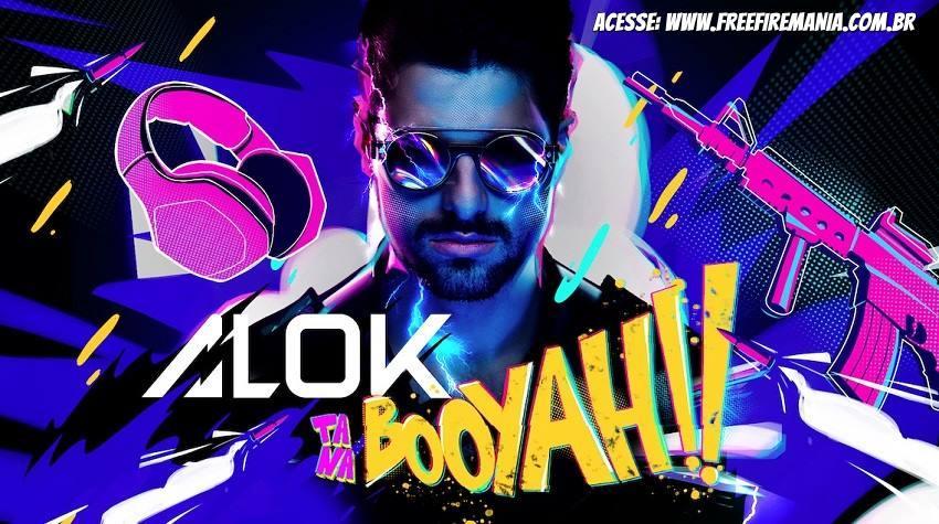 DJ Alok fará streaming com seu próprio personagem do Free Fire na BOOYAH!
