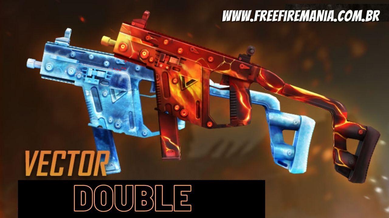 Double Vector no Free Fire agora está com skin nova, cada arma de uma cor, saiba como conseguir