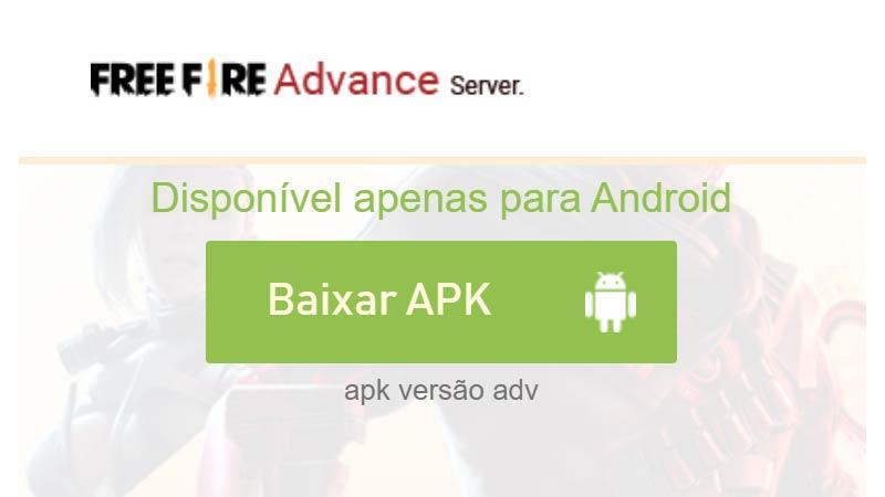APK Download: Free Fire Advanced Server July 2020