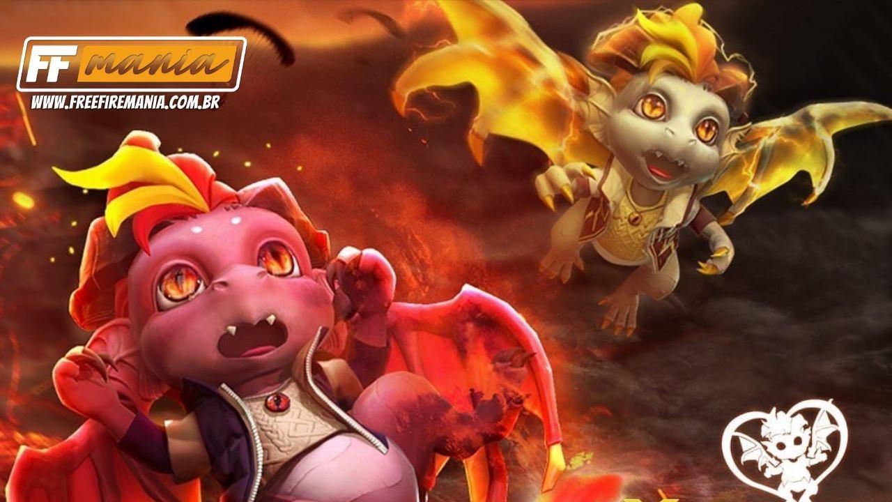 Drakinho é o novo pet do Free Fire (FF) e chega em 06 de março, confira habilidade