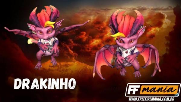 """Drakinho Free Fire: novo pet do jogo é um dragão """"X9"""", confira a habilidade"""