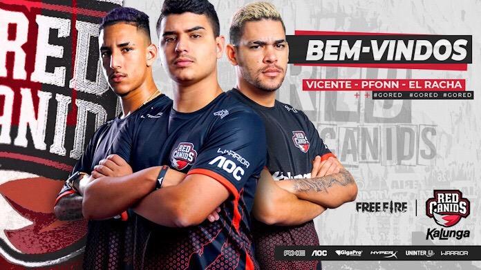 El Racha, Pfonn e Vicente são os novos integrantes da RED Canids