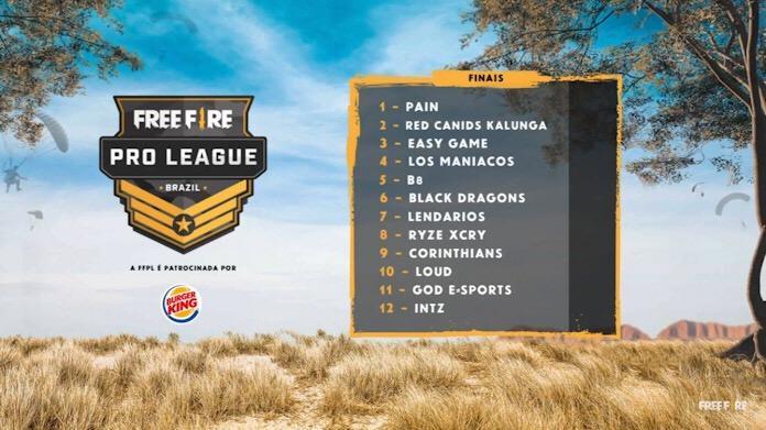 Veja as Equipes Finalistas da Free Fire Pro League - 3? Temporada