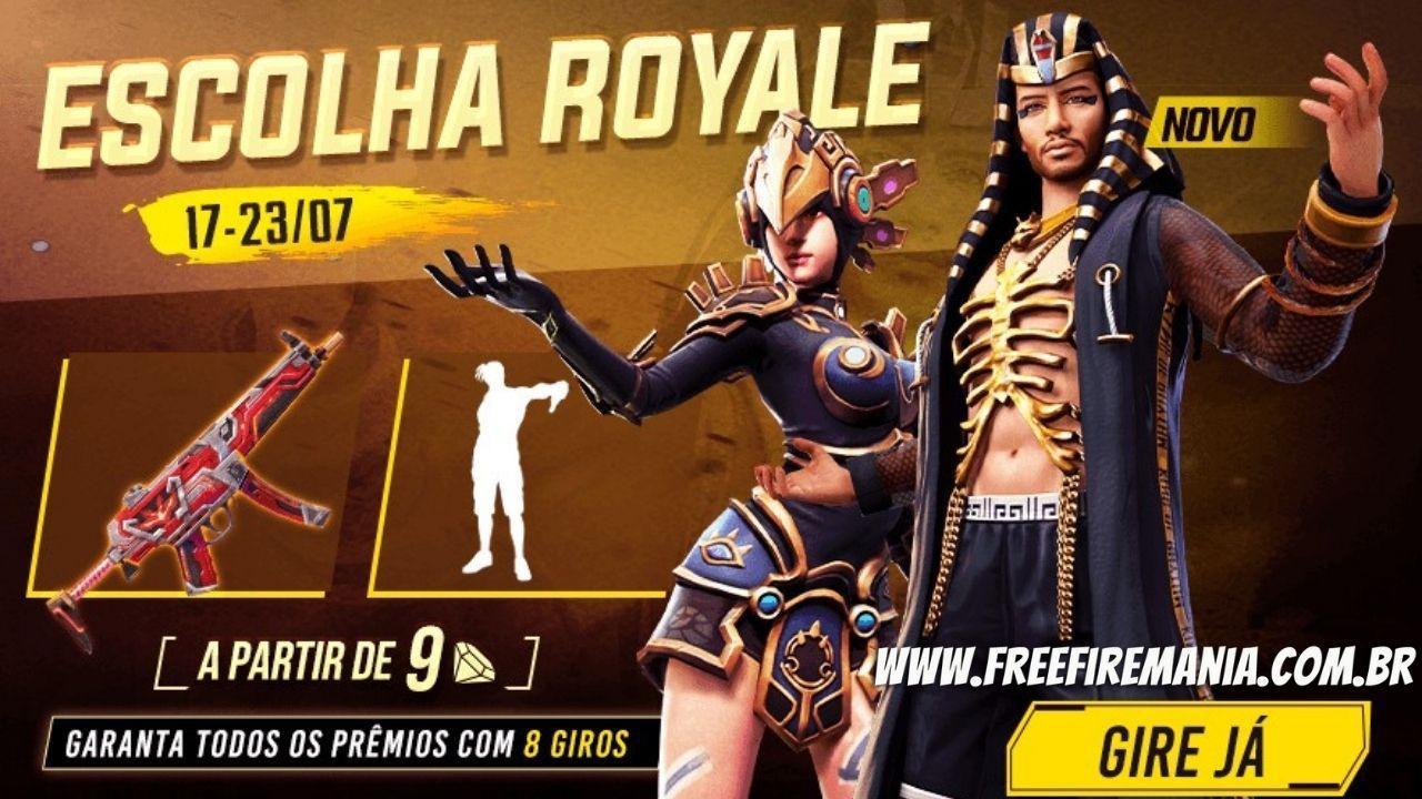 Escolha Royale Free Fire: pacote Mano Faraó, Totem de Energia e mais chegam nesta quinta