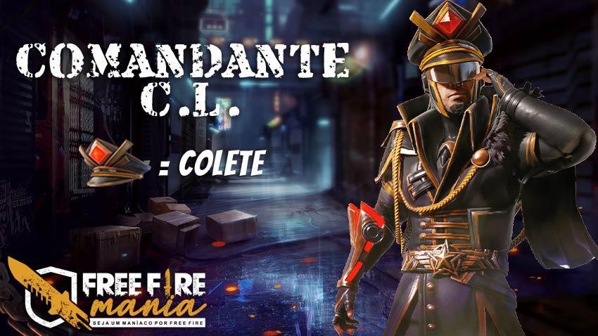 Chegou o Comandante C.L no evento Caça aos Prêmios do Free Fire
