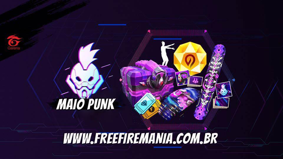 Evento Maio Punk no Free Fire