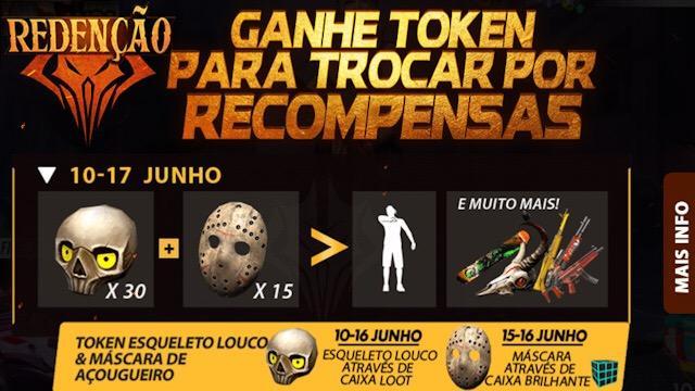 Evento Redenção: Elimine inimigos para Ganhar o Token do Esqueleto Louco