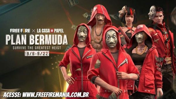 Eventos de Free Fire x La Casa de Papel, confira a programação completa