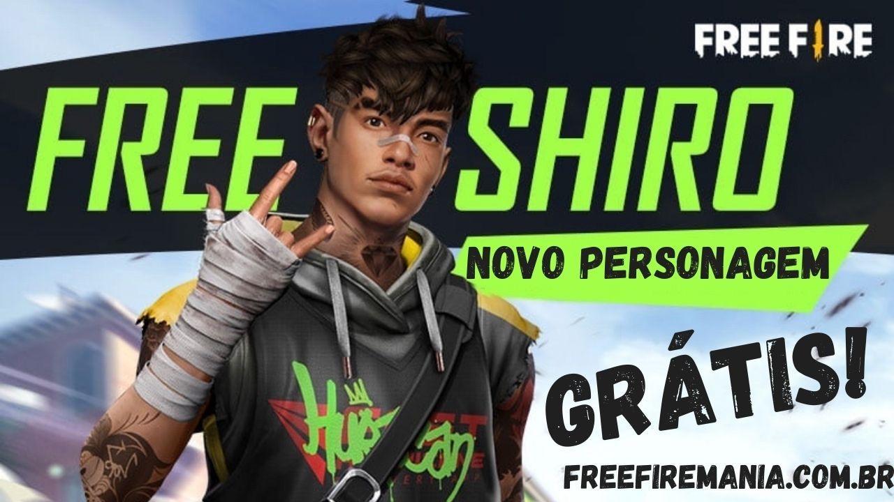 Exclusivo: Garena confirma a chegada do novo personagem Shiro de graça no Free Fire