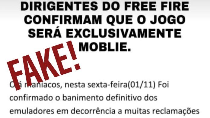 FAKE: Dirigentes do Free Fire Confirmam que o Jogo Será Exclusivamente Mobile?