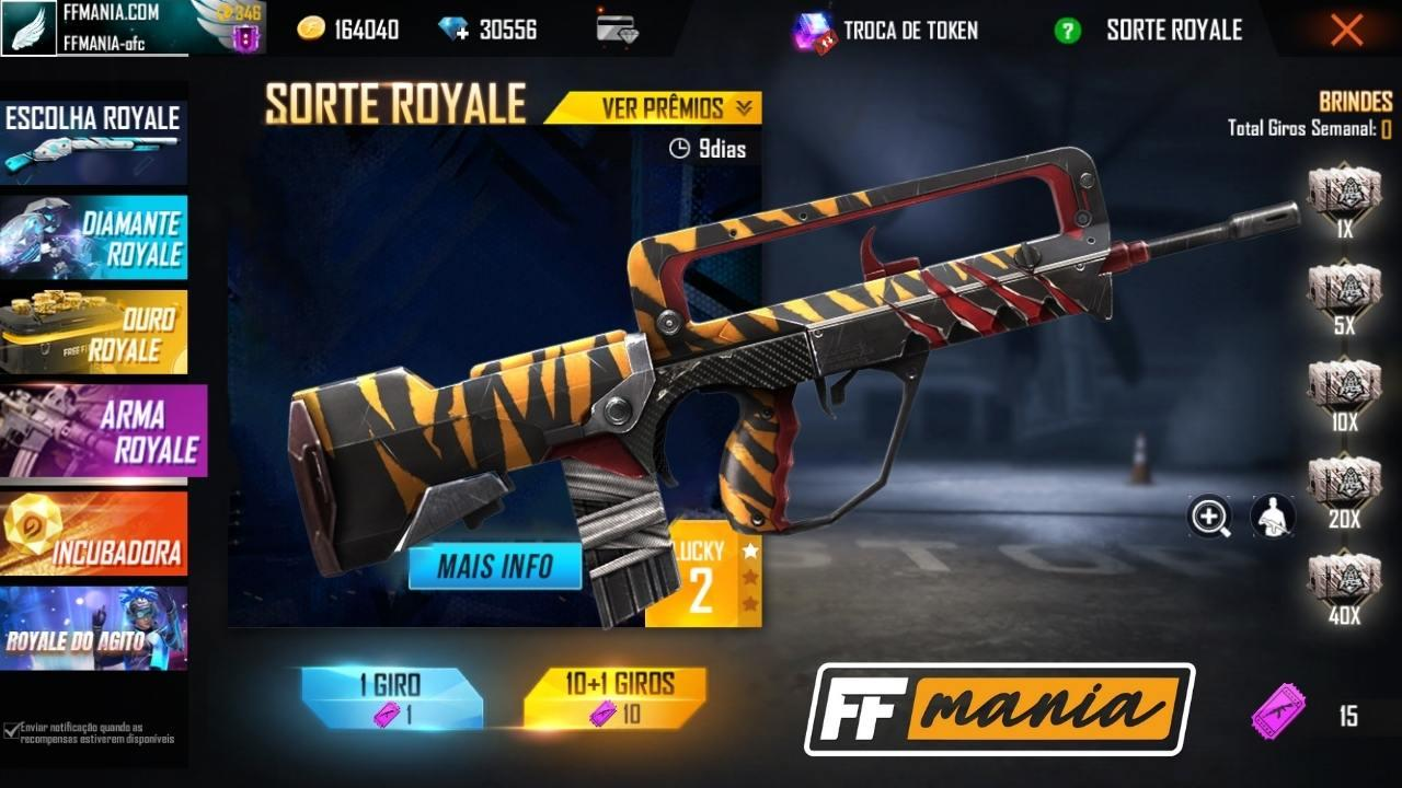 FAMAS Instinto Selvagem é o próximo Arma Royale do Free Fire