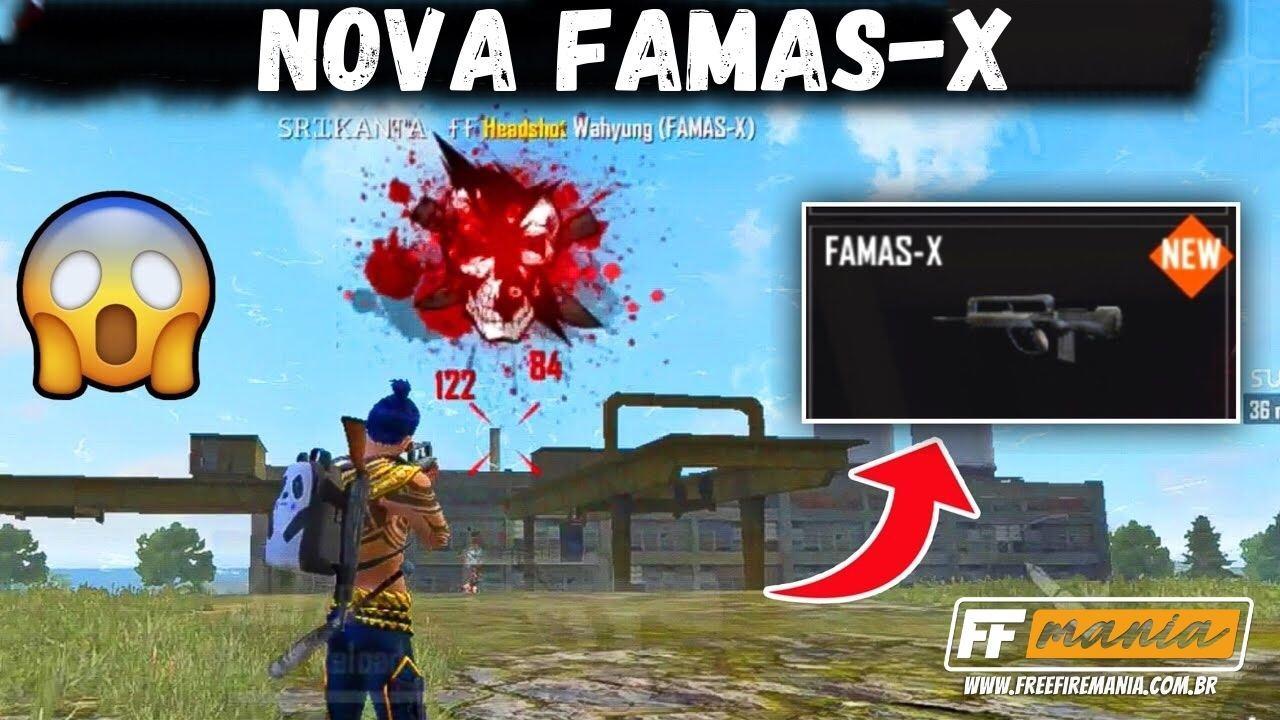 FAMAS X Free Fire (FF): item ganha atributo Tridente e terceiro tiro fica mais forte