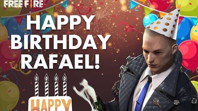 Feliz aniversário Rafael