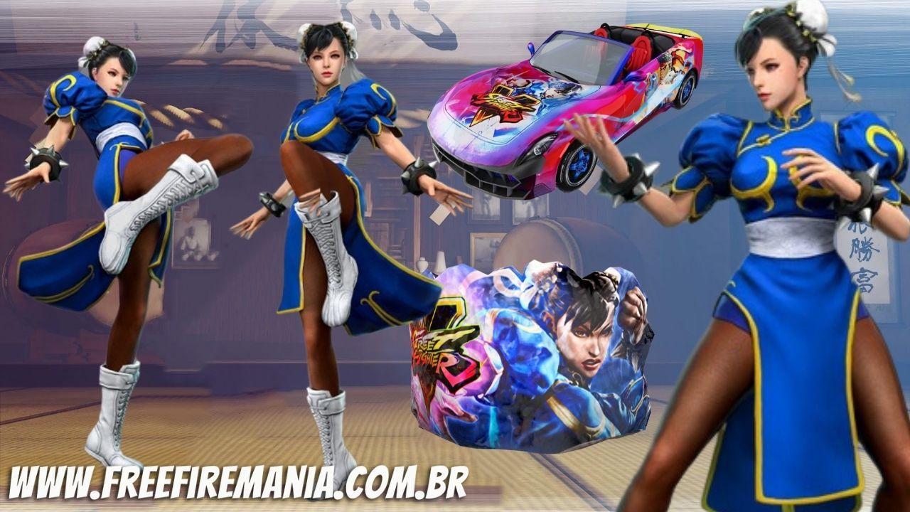 Festa da Chun-Li Free Fire: como conseguir pacote, parede de gel e carro esportivo Street Fighter