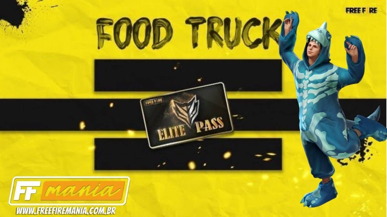 Food Truck Free Fire traz Dino e Passe de Elite com desconto, saiba como conseguir