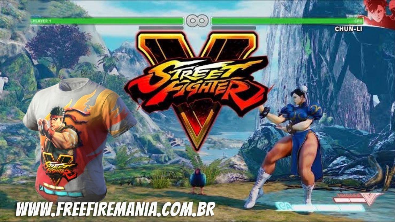 Free Fighter: parceria do Free Fire com Street Fighter V começa com item gratuito