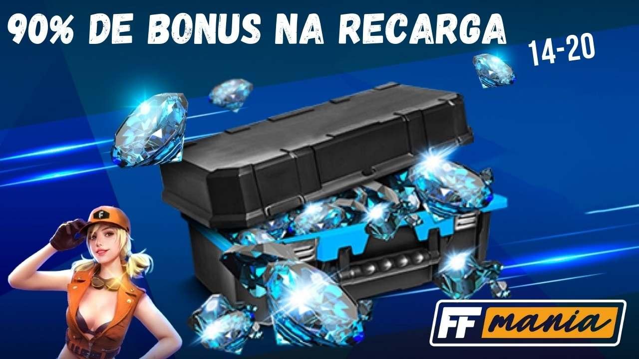 Free Fire: 90% em bônus de recarga está de volta!